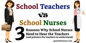 School Nurse school nurse School Teachers vs. School Nurses - 3 Reasons to Listen Teacher vs Nurses 01