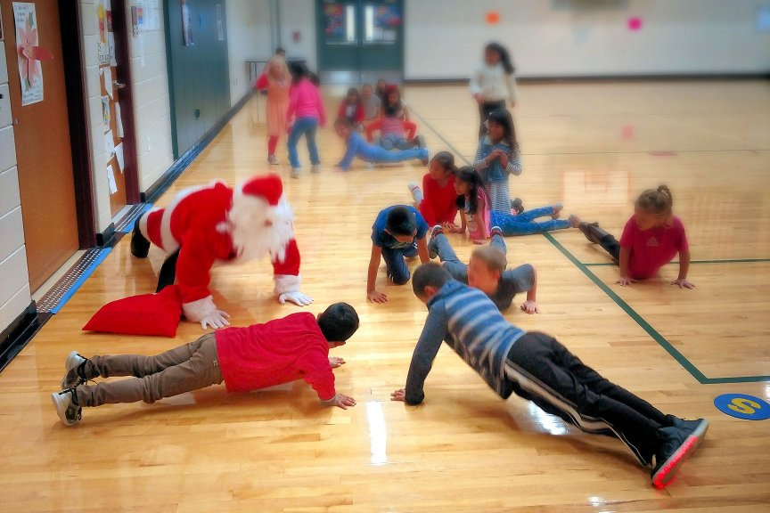 "Santa Doing Pushups much Getting ""Much"" of the Children santapushups96 Final OP"