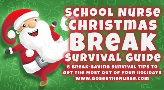 School Nurse Christmas Break Survival Guide, school nurse, nurse, Christmas, winter break, Christmas break, holiday break, new years, school break, holiday
